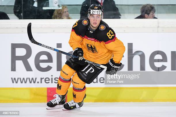 Leonhard Pfoederl of Team Germany during the game between Germany against Slovakia on november 7 2015 in Augsburg Germany