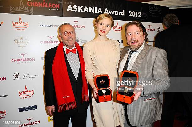 Leonhard R Mueller Rosalie Thomass and Armin Rohde attend the 5th Askania Award at the Chamleon Theater on February 7 2012 in Berlin Germany