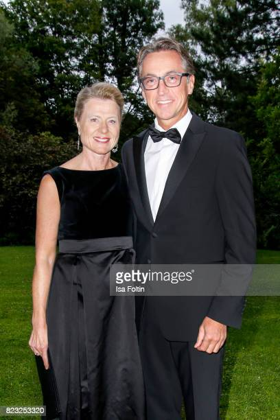 Leonhard Schitter and his wife Christine Schitter during the International Salzburg Association Gala on July 26 2017 in Salzburg Austria