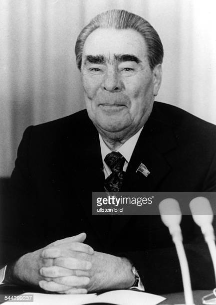 Leonid Ilich Brezhnew secretarygeneral of communist party and president of the Soviet Union