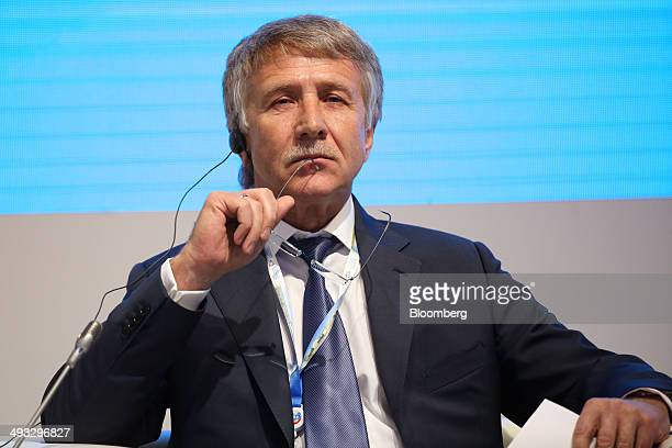 Leonid Mikhelson billionaire and chairman of OAO Novatek pauses during a session at the St Petersburg International Economic Forum in Saint...