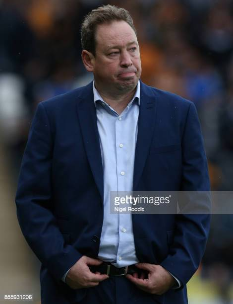 Leonid Slutsky manager of Hull City during the Sky Bet Championship match between Hull City and Birmingham City at KCOM Stadium on September 30 2017...