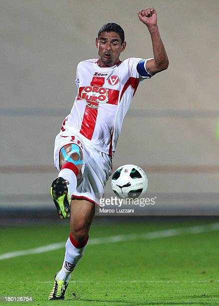 Leonidas Neto Pereia of AS Varese in action during the Serie B match between AS Varese and Modena FC at Stadio Franco Ossola on August 31 2013 in...