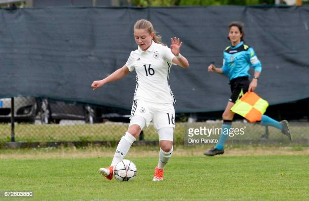 Leonie Koester of Germany Women's U16 competes during the 2nd Female Tournament 'Delle Nazioni' match between Germany U16 and Belgium at Stadio...