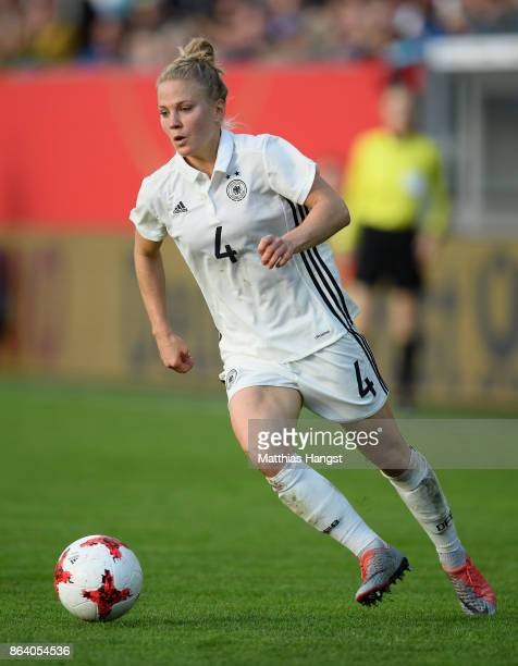 Leonie Maier of Germany controls the ball during the 2019 FIFA Women's World Championship Qualifier match between Germany and Iceland at BRITAArena...