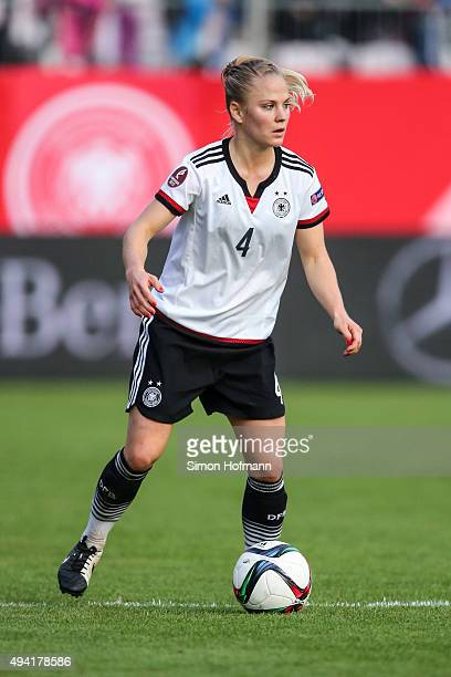 Leonie Maier of Germany controls the ball during the UEFA Women's Euro 2017 Qualifier match between Germany and Turkey at Hardtwaldstadion on October...
