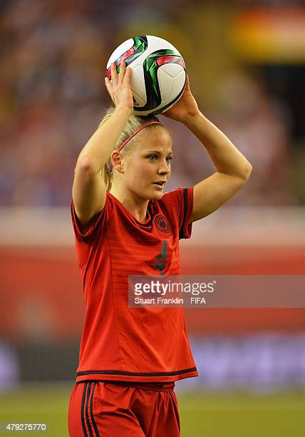 Leonie Maier of Germany in action during the FIFA Women's World Cup Semi Final match between USA and Germany at Olympic Stadium on June 30 2015 in...