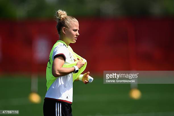 Leonie Maier of Germany looks on during a training session at Wesley Clover Park on June 18 2015 in Ottawa Canada