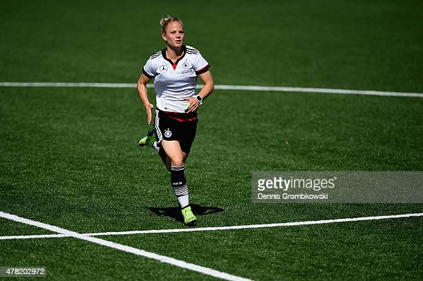 Leonie Maier of Germany practices during a training session at Complexe Sportif Multi Sports on June 23 2015 in Montreal Canada