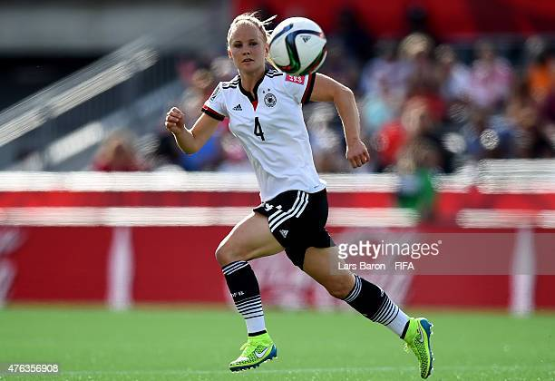 Leonie Maier of Germany runs with the ball during the FIFA Women's World Cup 2015 Group B match between Germany and Cote D'Ivoire at Lansdowne...