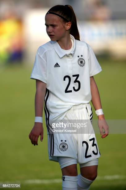 Leonie Zilger of Germany is seen during the U15 girl's international friendly match between Germany and Netherlands at Getraenke Hoffmann Stadion on...