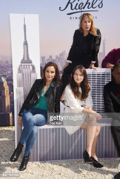 Leonor Varela Anais Demoustier and Emmanuelle Bercot pose at the Revelations Jury photocall during the 43rd Deauville American Film Festival on...