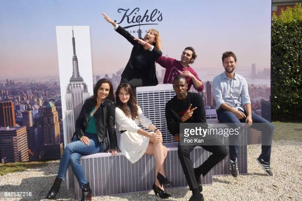 Leonor Varela Anais Demoustier Emmanuelle Bercot Abd Ali Malik Pio Marmai and Pierre Rochefort pose at the Revelations Jury photocall during the 43rd...