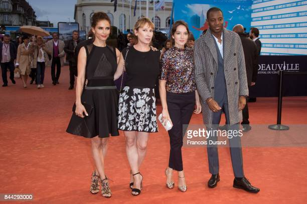 Leonor Varela Emmanuelle Bercot Anais Demoustier and Abd Al Malik arrive at the screening for 'mother' during the 43rd Deauville American Film...