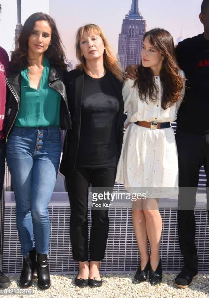 Leonor Varela Emmanuelle Bercot and Anais Demoustier pose at the Revelations Jury photocall during the 43rd Deauville American Film Festival on...