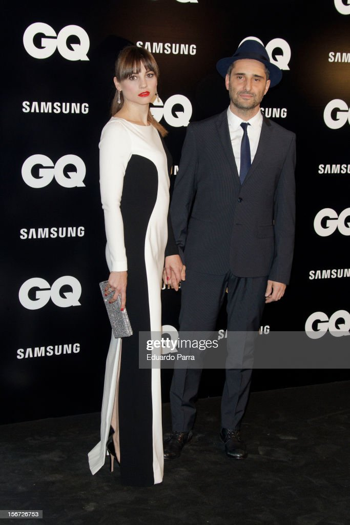 Leonor Watling and Jorge Drexler attend GQ Men of the year awards photocall at Palace hotel on November 19 2012 in Madrid Spain