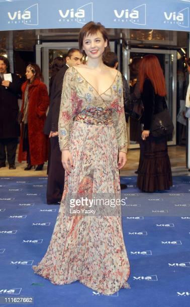 Leonor Watling during Goya Cinema Awards Arrivals and Show at Palacio de Exposiciones in Madrid Spain