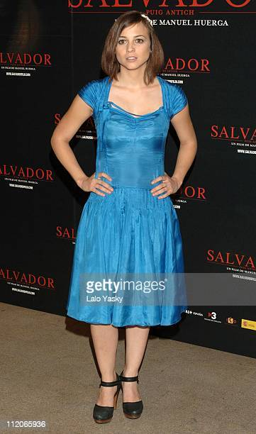 Leonor Watling during 'Salvador' Photocall in Madrid at Hesperia Hotel in Madrid Spain