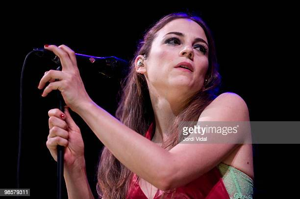 Leonor Watling of Marlango performs on stage at Gran Teatre Del Liceu on April 20 2010 in Barcelona Spain