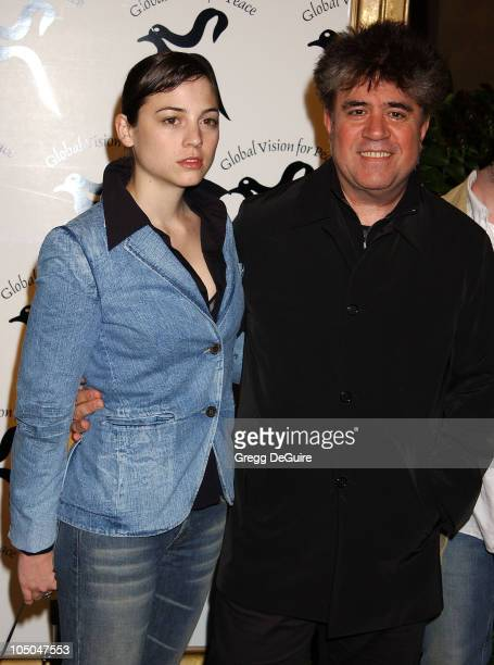 Leonor Watling Pedro Almodovar during Global Vision For Peace Party at Talmadge Estate in Los Feliz California United States