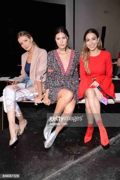 Leonora Jimenez Alba Riquelme and Mimi Fashion Style attend Sally LaPointe fashion show during New York Fashion Week on September 12 2017 in New York...