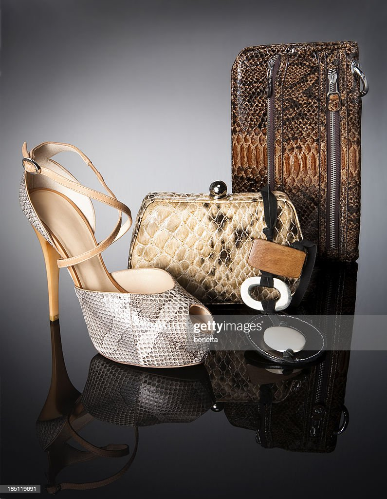leopard handbags with shoe