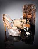 leopard handbags with shoe