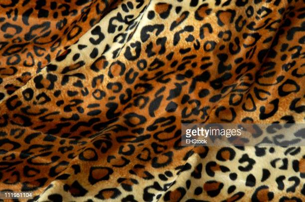 Leopard Print Fabric Faux Fur Background