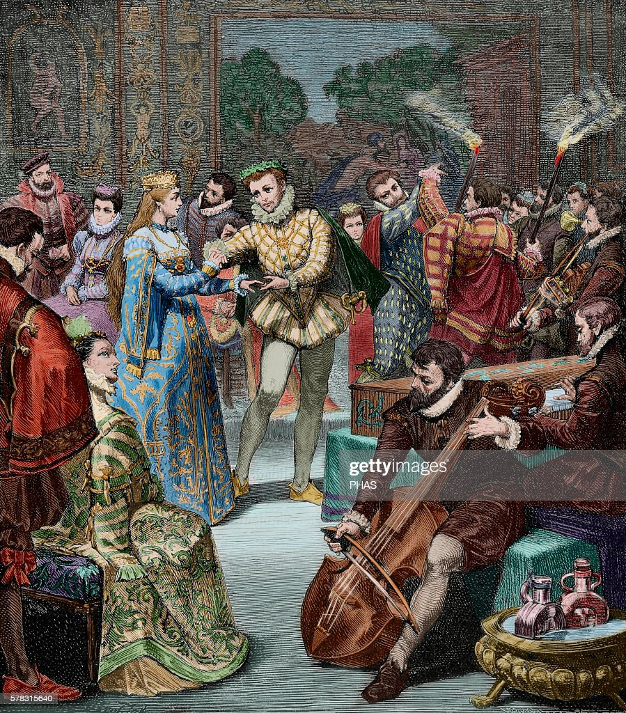 Leopold I Holy Roman Emperor Bridal Party of Leopold I and Margaret Theresa of Spain Engraving by H Kaefeberg in Germania 1882 Colored