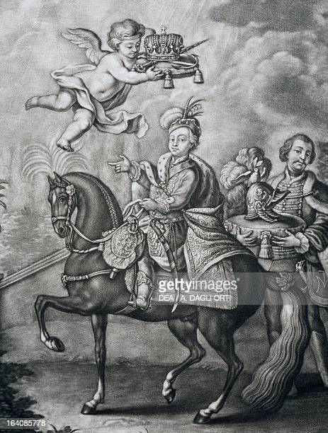 Leopold II Holy Roman Emperor on horseback also Grand Duke of Tuscany as Peter Leopold engraving Vienna Historisches Museum Der Stadt Wien