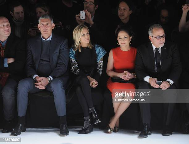 Leor Cohen Tory Burch Gloria Estefan and Emilio Estefan attend the Narciso Rodriguez Fall 2012 fashion show during MercedesBenz Fashion Week at the...