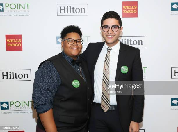 Le'Priya White and Omar Salman at Point Honors Los Angeles 2017 benefiting Point Foundation at The Beverly Hilton Hotel on October 7 2017 in Beverly...