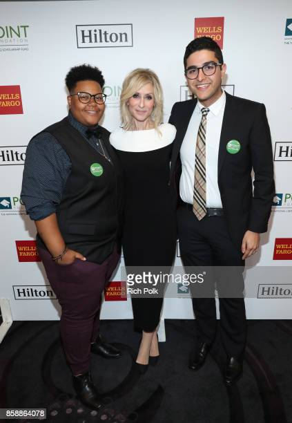 Le'Priya White Judith Light and Omar Salman at Point Honors Los Angeles 2017 benefiting Point Foundation at The Beverly Hilton Hotel on October 7...