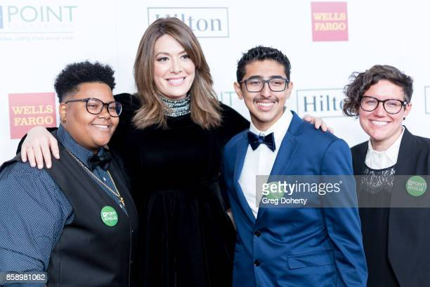 Le'Priya White Michelle Collins Omar Salman and Bridgette Davis arrive for the Point Honors Los Angeles at The Beverly Hilton Hotel on October 7 2017...