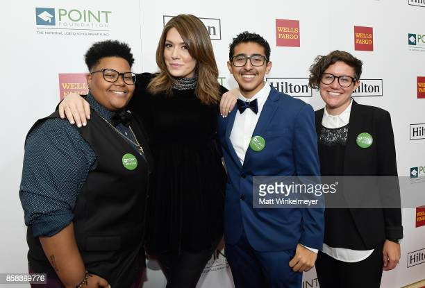Le'Priya White Michelle Collins Omar Salman and Bridgette Davis at Point Honors Los Angeles 2017 benefiting Point Foundation at The Beverly Hilton...