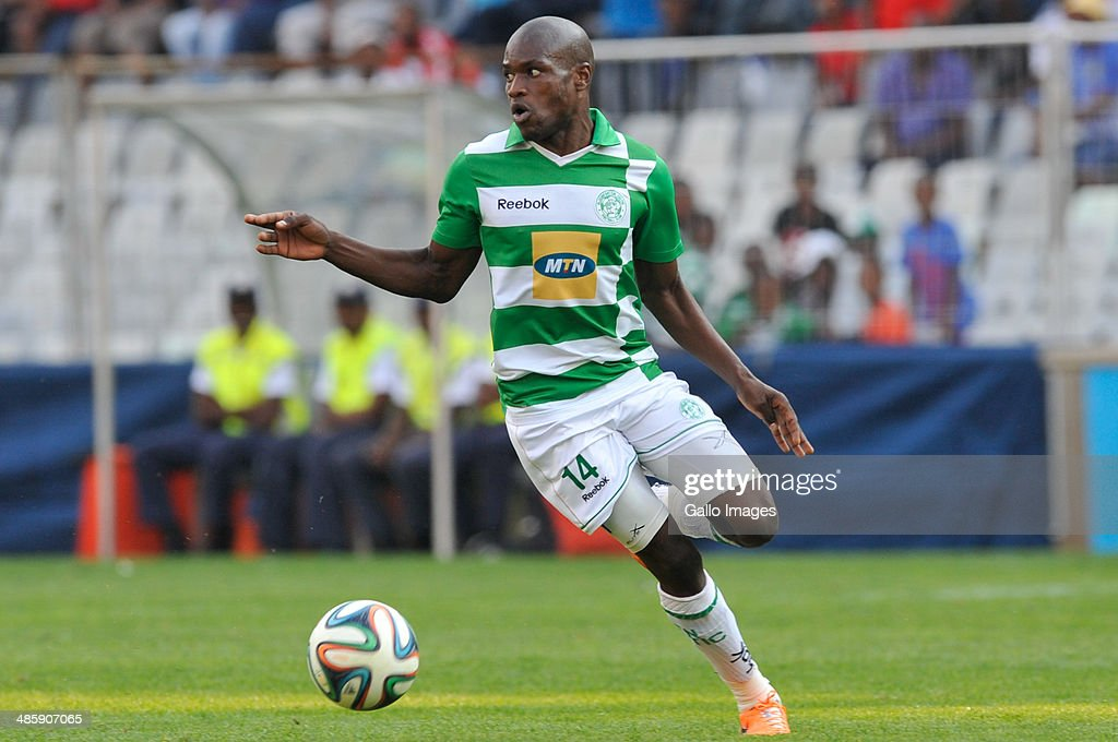 Lerato Lamola of Celtics in action during the Absa Premiership match between Bloemfontein Celtic and Orlando Pirates at Free State Stadium on April 21, 2014 in Bloemfontein, South Africa.