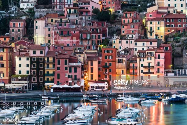 Lerici bay at sunrise. La Spezia, Liguria
