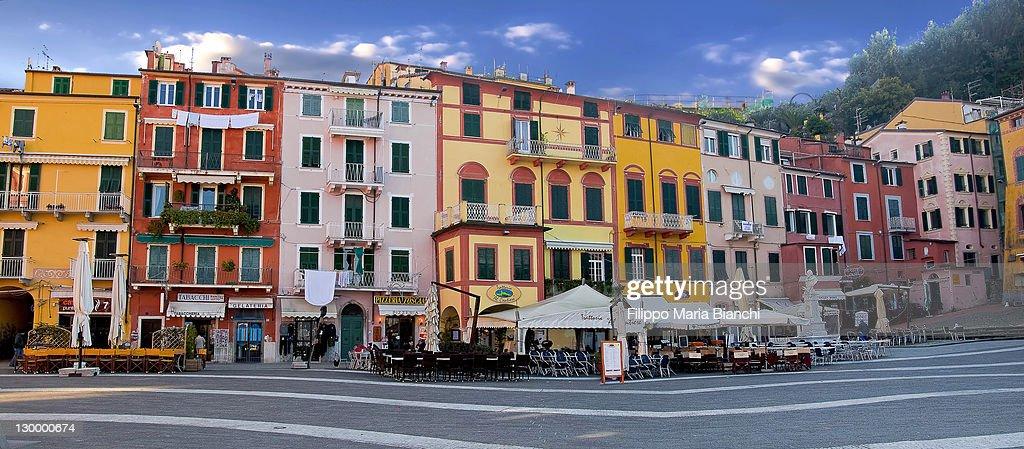 Lerici, main square : Stock Photo