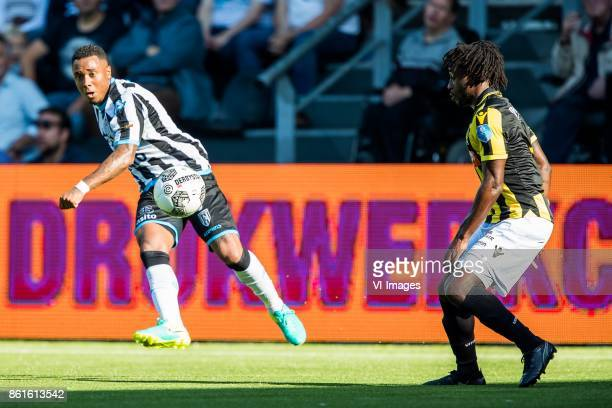 Lerin Duarte of Heracles Almelo Fankaty Dabo of Vitesse during the Dutch Eredivisie match between Heracles Almelo and Vitesse Arnhem at Polman...