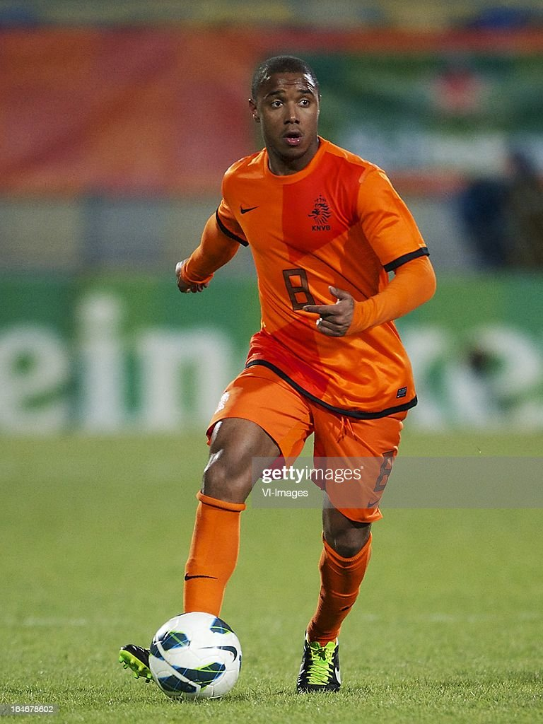 Lerin Duarte of Holland U21 during the friendly match between the Netherlands U21 and Norway U21 at the Mandemakers Stadium on march 25, 2013 in Waalwijk, The Netherlands
