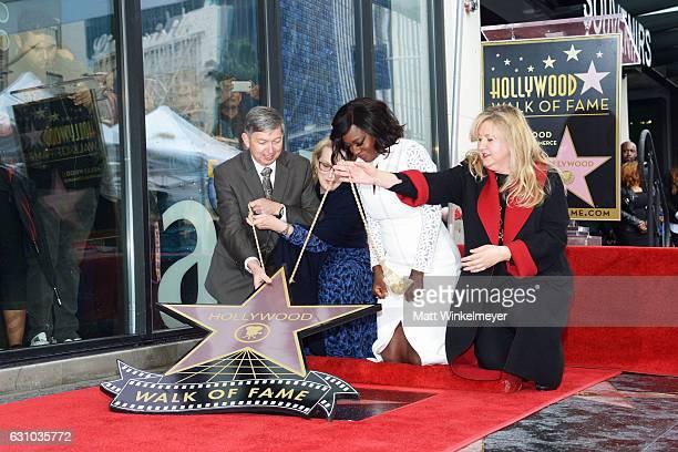 Leron Gubler Meryl Streep Viola Davis and Fariba Kalantari attend a ceremony honoring Viola Davis with star on the Hollywood Walk of Fame on January...