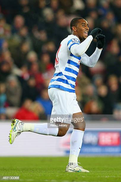 Leroy Fer of QPR celebrates scoring the opening goal during the Barclays Premier League match between Sunderland and Queens Park Rangers at Stadium...