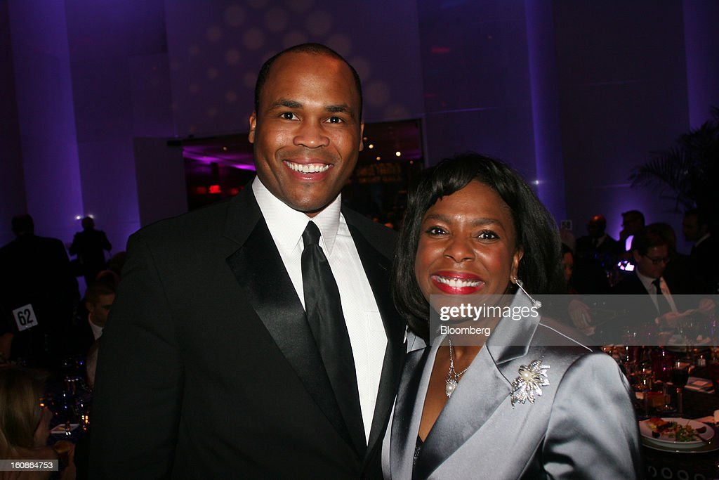 Leroy Nix, a lobbyist for Alabama Power Co., left, and Congresswoman Terri Sewell, a Democrat from Alabama, pose for a portrait at the Alvin Ailey American Dance Theater Opening Night Gala Benefit at the Kennedy Center in Washington, D.C., U.S., on Tuesday, Feb. 5, 2013. The gala raised money for area dance students. Photographer: Stephanie Green/Bloomberg via Getty Images