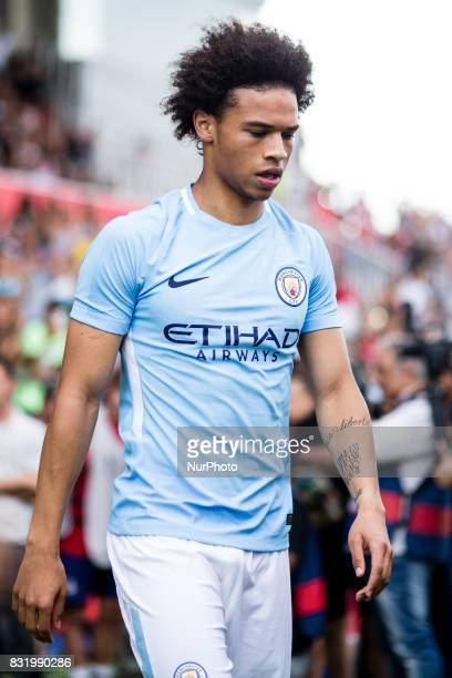 19 Leroy Sane from Germany of Manchester City during the Costa Brava Trophy match between Girona FC and Manchester City at Estadi de Montilivi on...