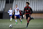 Leroy Sane of Germany controls the ball during the 2017 UEFA European U21 Championships Qualifier between U21 Faroe Islands and U21 Germany at...