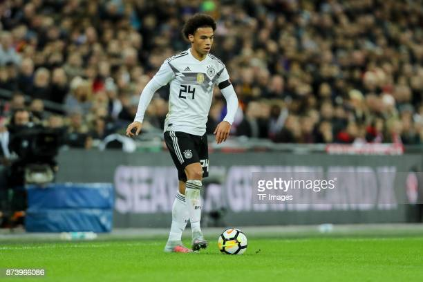 Leroy Sane of Germany controls the ball during the international friendly match between England and Germany at Wembley Stadium on November 10 2017 in...