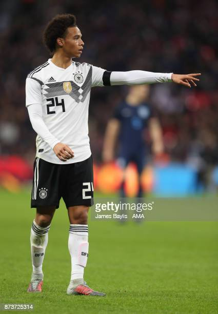Leroy Sane of Germany during the International Friendly fixture between Germany and England at Wembley Stadium on November 10 2017 in London England