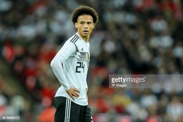 Leroy Sane of Germany looks on during the international friendly match between England and Germany at Wembley Stadium on November 10 2017 in London...