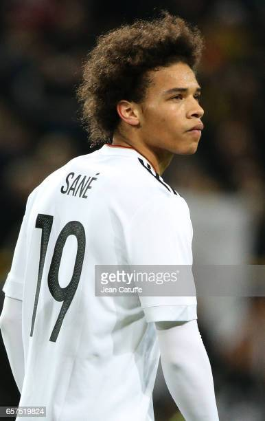 Leroy Sane of Germany looks on following the international friendly match between Germany and England at Signal Iduna Park on March 22 2017 in...