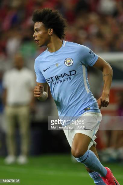 Leroy Sane of Manchester City during the International Champions Cup 2017 match between Manchester United and Manchester City at NRG Stadium on July...